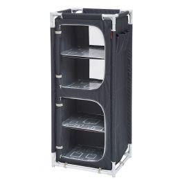 meuble de rangement pliant gris/noir