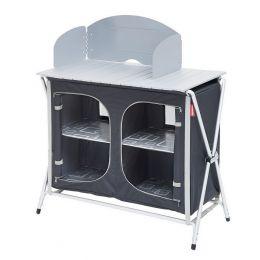 meuble de cuisine pliant gris/noir