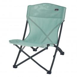 Chaise plage pliante Vert gris