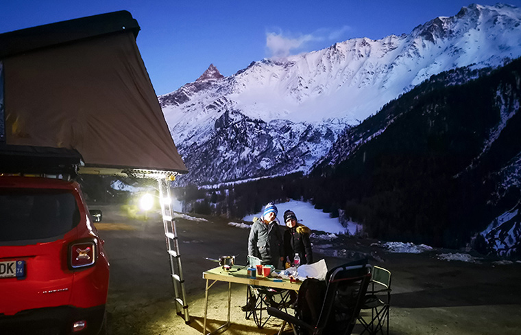 camping neige