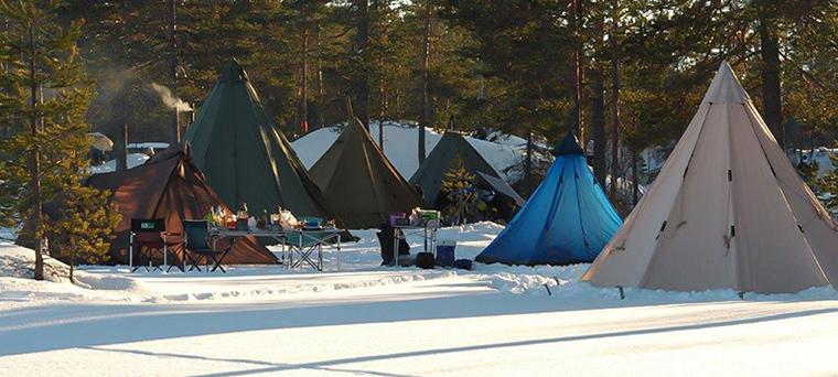 camper en hiver