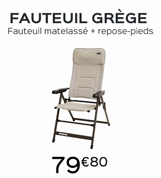 fauteuil camping grege